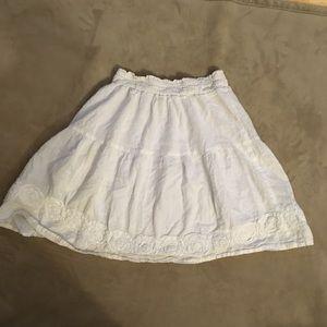 White cotton flare shirt